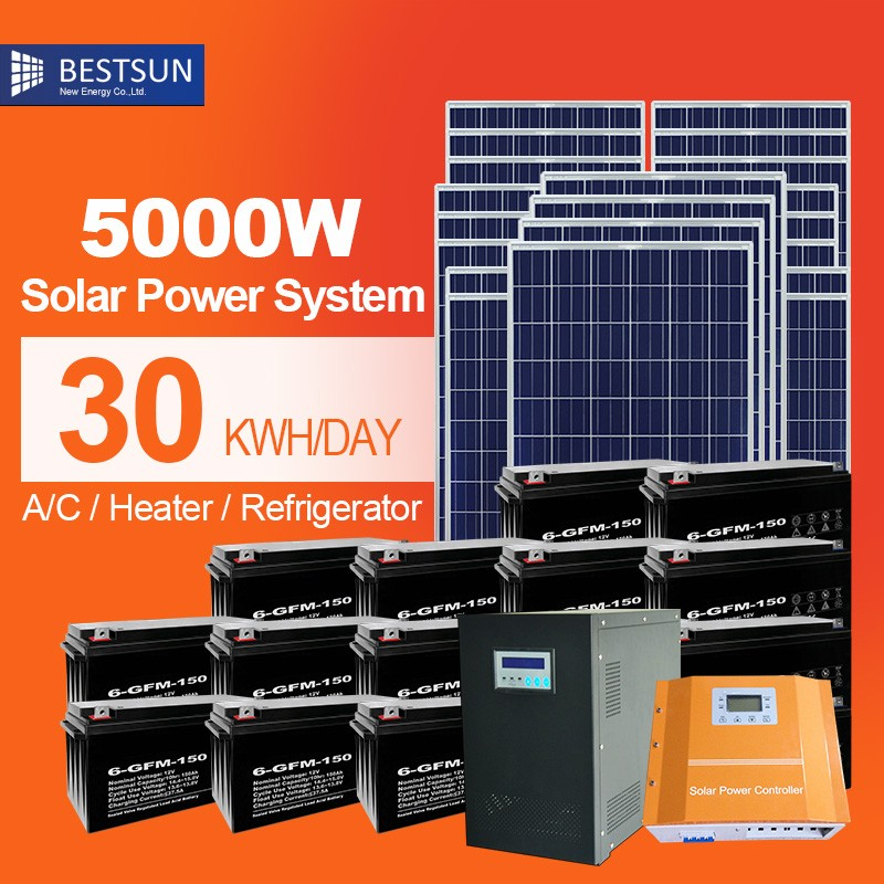 Solar Energy UPS System ESS-5000W online solarenergy storage with both solar and local electric