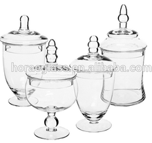 Designed glass apothecary jars for decorations such as flowers or fruits sand or seashells and other dry decoration