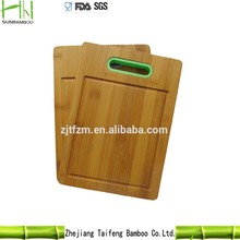 2015 high quality Non-slip chopping block,bamboo cutting board Color Silicone Edges Set