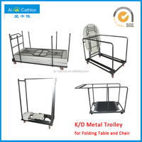 Moveable Folding Table Dolly Trolly For