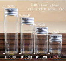 D30 clear reagent vails with metal lid