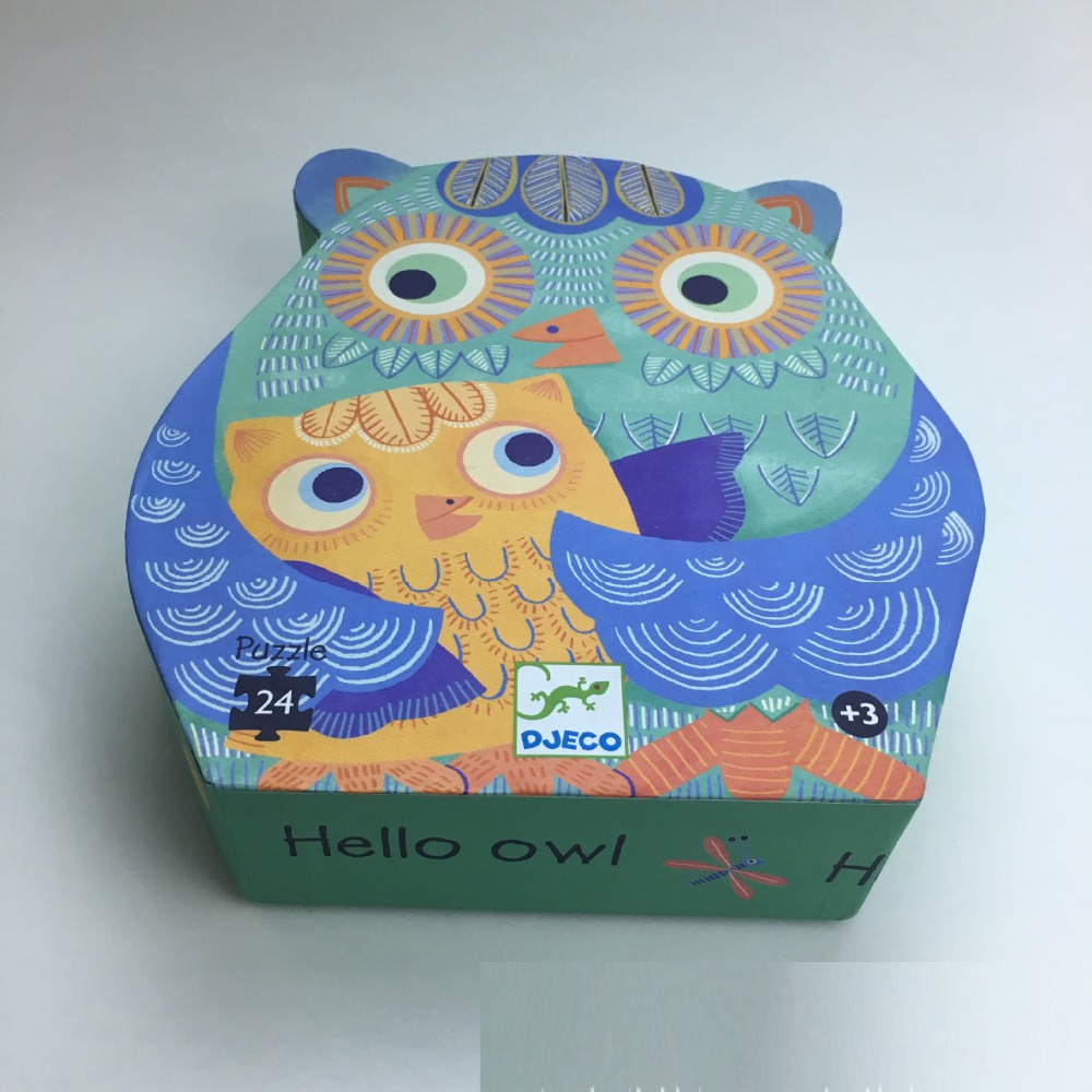 custom offset printing owl shape cardboard packaging box for toy