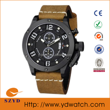 fashion watch stainless steel chronograph watches diy leather fashion vogue chronograph sports watches