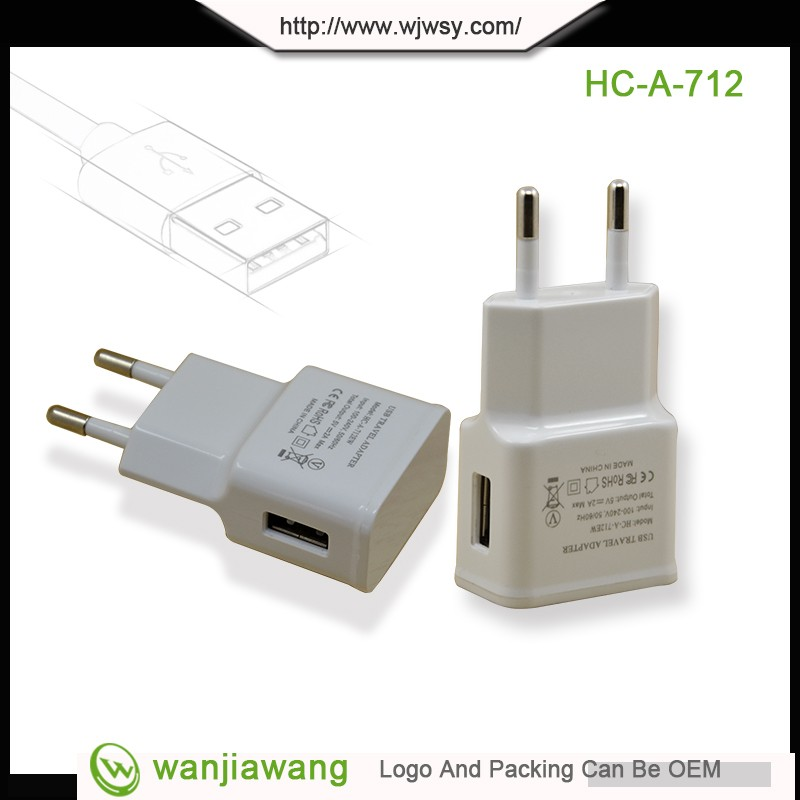 Wholesale Price EU US KR Plug 5V 2A Universal Portable White Black Micro USB Wall Charger For Iphone Sumsung
