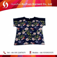 2017 New fancy young women summer new design t-shirt soft viscose spandex fabric low price