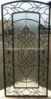 wrought iron glass for doors and windows