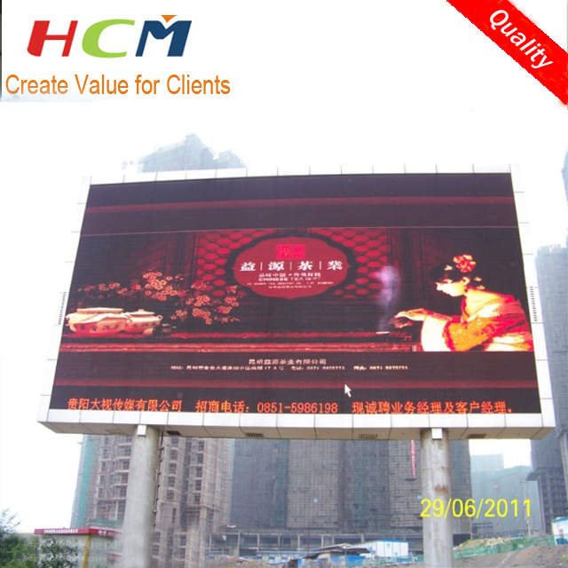 on pillar led display big screen Outdoor