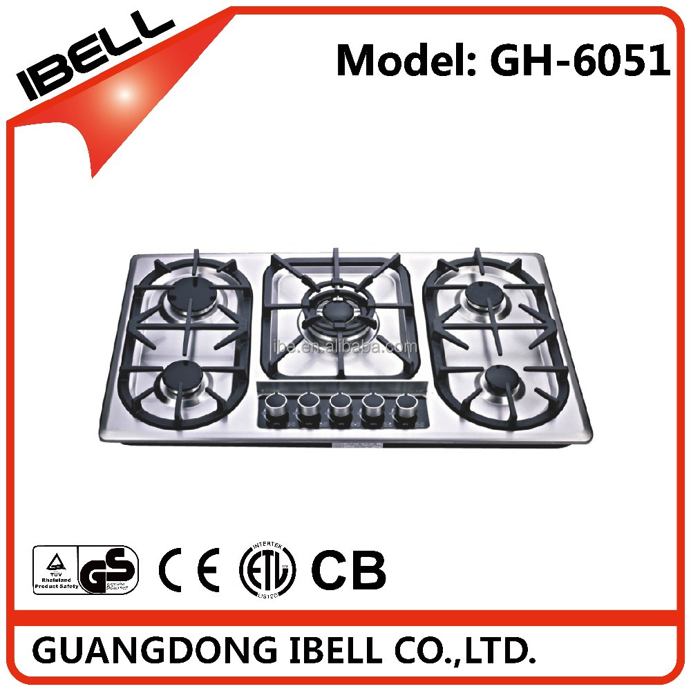 freestanding gas oven Kitchen appliances Gas hob with 5 burners