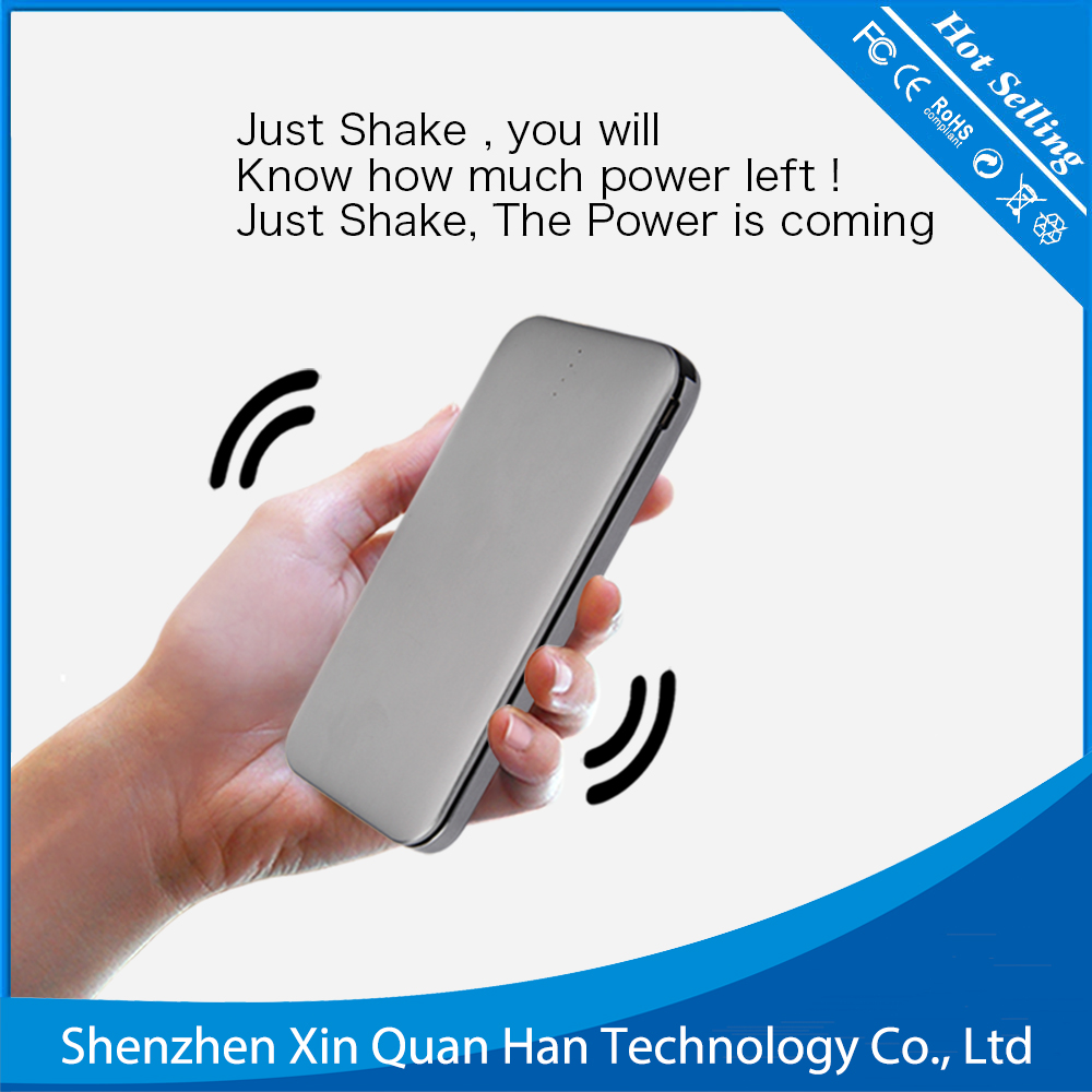 8000mAh Cell Phone battery Power Bank Buit in Charging Cable smart battery charger