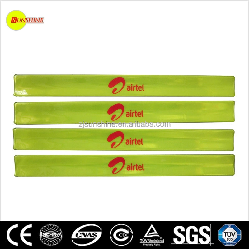 hot selling slap wrap reflective safety EN13356 armband slap wrap