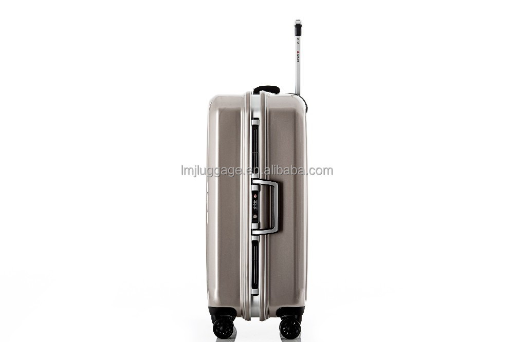 2016 hard case abs trolley luggage bag carry on type luggage and suitcase with double tsa lock