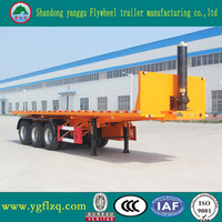 China Factory High Quality Cheap tri axle platform tipper dump container truck semi trailers