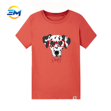2017 Fashion hot selling tee shirt with dog printed wholesale for promotion