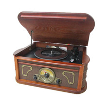 New arrive USB SD CD Radio Bluetooth turntable modern gramophone player
