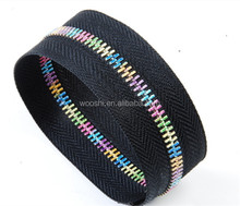 #5 one-way colorful teeth metal zipper for bag accessories