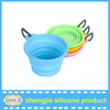 2015 new design foldable silicone dog bowls with colorful