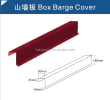 Box barge Cover/stone chips coated steel roof tile accessaries popular in Nigeria market