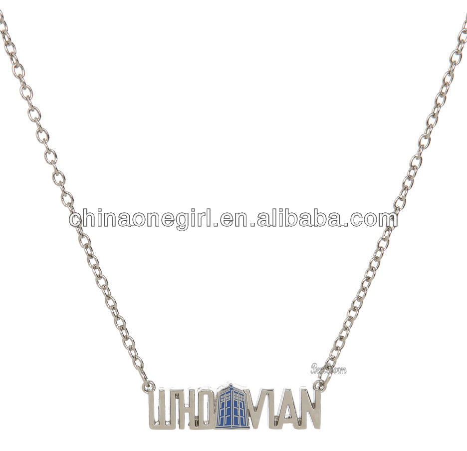BBC Dr Who Whovian Tardis Phone Booth Call Box Necklace