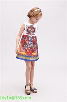 Wholesale stock new model baby girl fashion night party dress In stock top quality baby birthday party girl dress
