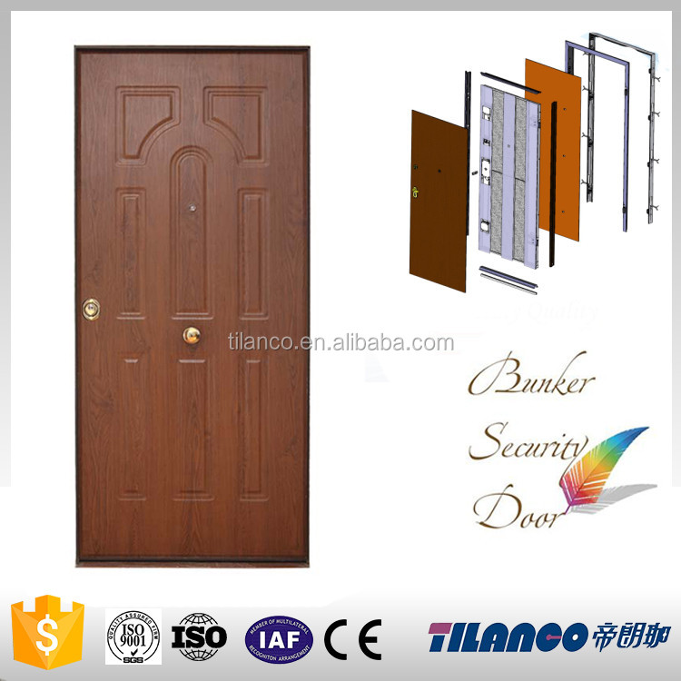 china factory main safety residential steel double entry doors