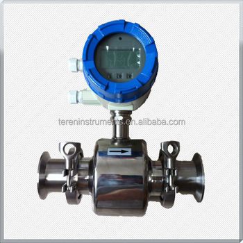 wine beer 4-20mA RS485 hygienic electromagnetic flow meters