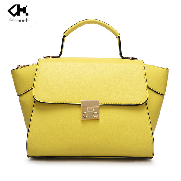 Latest best sell lady handbag pu leather tote bag china factory price