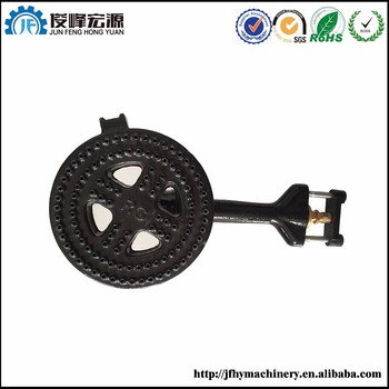 enameled iron casting gas stove burner parts and gas burner parts