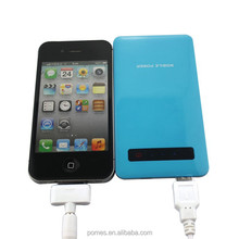 OEM universal portable mobile power supply shenzhen 4000mah for iphone/tablet/PC