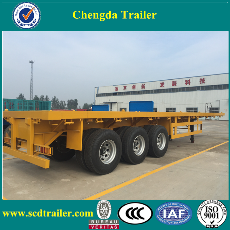 High-tech tri-axle air compressor fitted 50tons dry cement bulker trailer