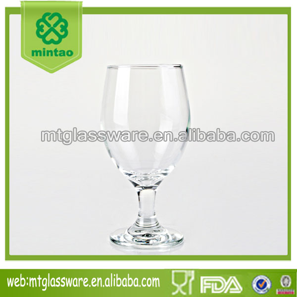 wholesale cheap 13oz goblet wine glass drinking glass fancy beer glass