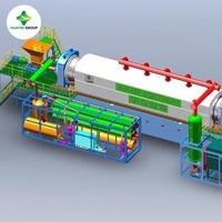 Environmental continuous tire rubber to oil recycling pyrolysis machine