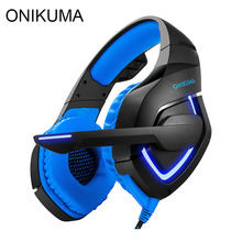 ONIKUMA K1 Gaming Headset Best Stereo Headphones Gamer casque for PS4 New Xbox One with Microphone Mic Led Light fone de ouvido