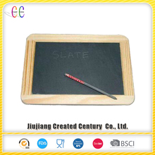 Natural slate blackboard with slate pencil