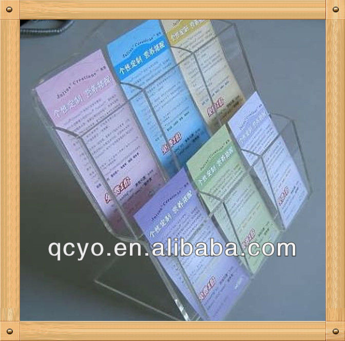 hot new product clear acrylic plastic magazine file holder