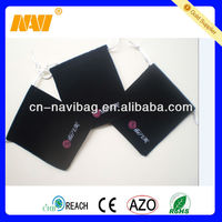 drawstrings silk gift bags with logo(NV-D0288)