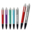 Stationery light up logo ballpoint pen with push the stylus to show your printing pen for promotion