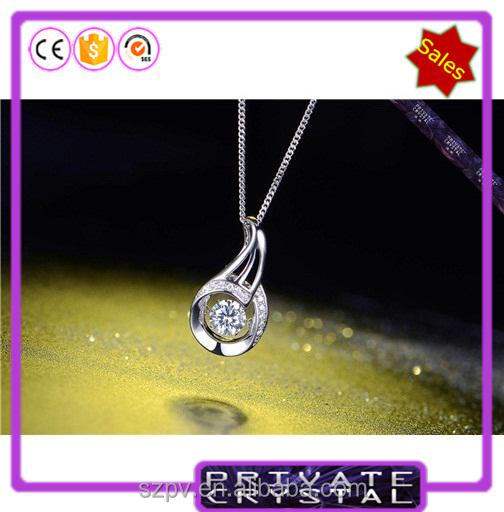 JP0573 - Dancing Stone pendant silver necklace for women jewlery