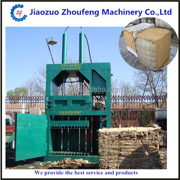 straw bale press machine hay compress hydraulic baler waste paper briquette packing machinery Type and Hydraulic Driven Type