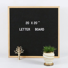 Black Felt Letter Board 10x10 Inches. Changeable Letter Boards Include 350 White Plastic Letters & Oak Frame.