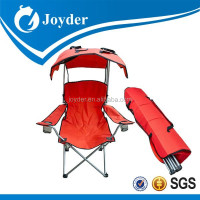 Roof folding heated camping chair with carry bag