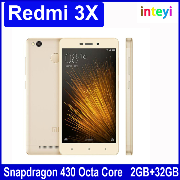"Original Xiaomi Redmi 3X 3 X 2GB RAM 32GB ROM Mobile Phone Snapdragon 430 Octa Core 5.0"" inch Fingerprint ID 4100mAh Battery"