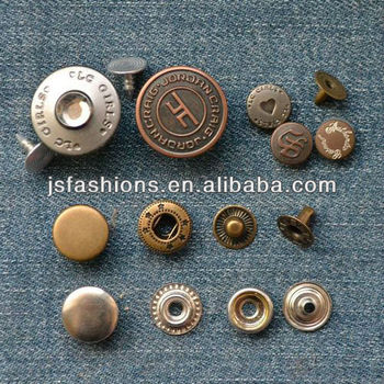 Wenzhou China Metal Button Factory supply