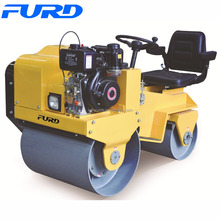 800kg Vibratory Double Drum Earth Compaction Roller (FYL-850)