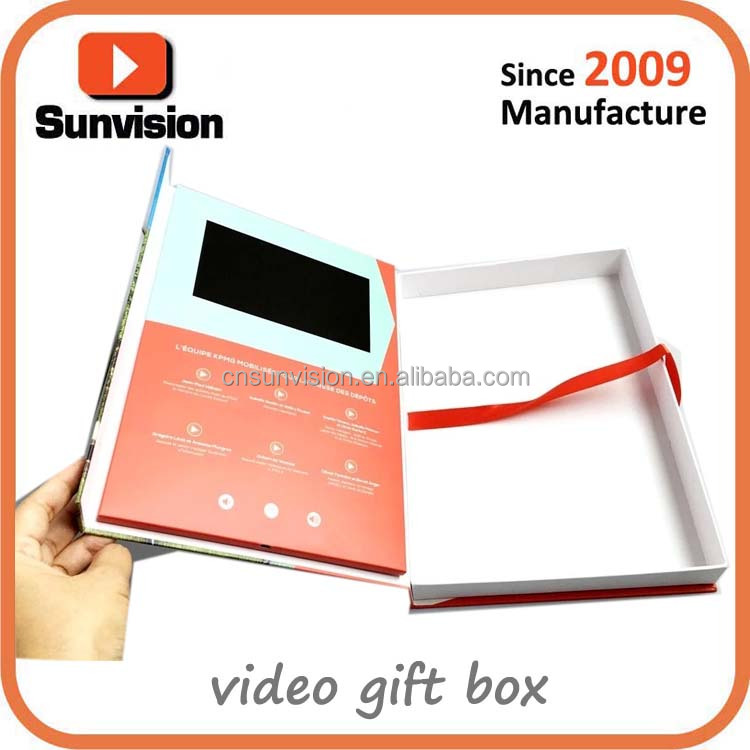 Customized package box with LCD Screen Magnetic Closure LCD Video package box