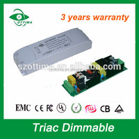 plastic case ip20 class II constant voltage dimmable 80w 12v 24V led driver