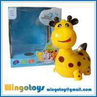Hot selling alibaba in russian animal b/o toy with music and light