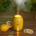 Mini Yellow Lemon design Car Humidifier with USB connect Recharge wireless Ultrasonic Essential Oil Diffuser