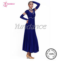 M-13 Fashion and elegant With Gloves Royal Blue Dresses For Women
