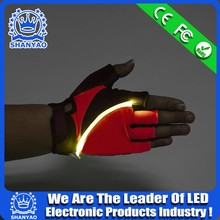 2016 Hot Selling Fun Run LED Glove For Night Jogging etc Sports Safety