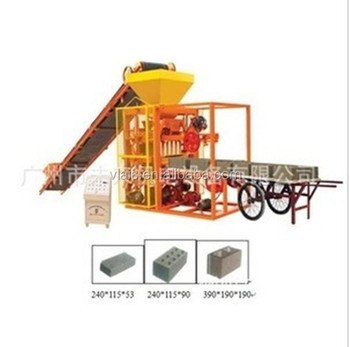Large fully automatic concrete block making machine